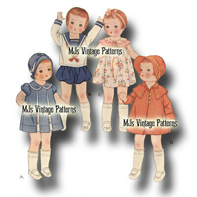 """Composition Shirley Temple Vintage Antique 1930s Doll Pattern ~ 22/"""" Patsy Lou"""