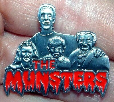 The Munsters Family Silvered Metal & Enamel Pin Badge