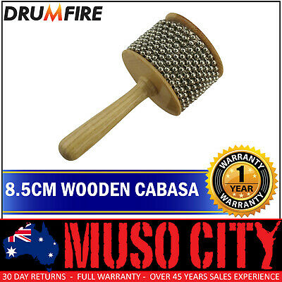 "New Drumfire 8.5"" Wood Cabasa Hand Percussion"