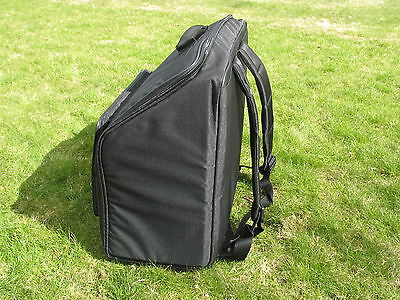 Super Light Deluxe Italian Accordion Soft Case - Semi Rigid Back carrying straps