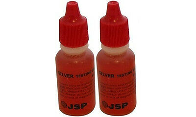 2 Bottles Silver Test Acid Testing Sterling Jewelry Solution Liquid Metal Tester