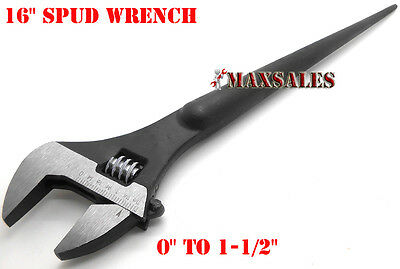 """16"""" Adjustable Spud Wrench Tapered Handle For Aligning Bolts"""