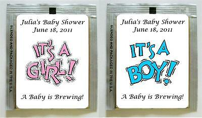 30 Personalized Baby Shower Tea Bag Labels Can Be Used For