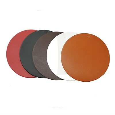 Roco Verre Real Leather Hide Round Coasters in 5 Colours SET OF 6 + Gift Box