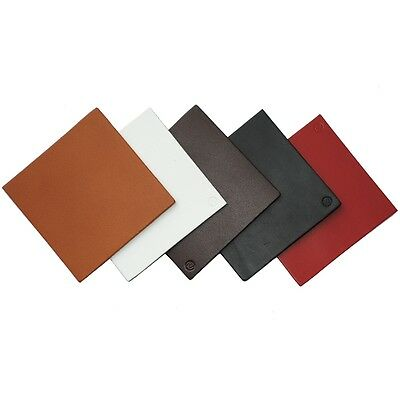 Roco Verre Real Leather Hide Square Coasters in 5 Colours SET OF 6 + Gift Box