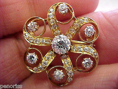 Beautiful Estate Antique Diamond Pin  Petite with Large Diamonds   Make Offer
