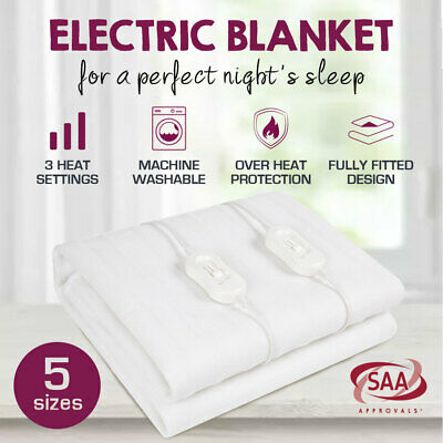 Premium New 2017 Model Smart Fitted Electric Blanket Machine Washable All Sizes