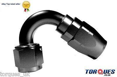 AN -6 (AN6 ) 120 DEGREE Swivel Seal BLACK Hose Fitting
