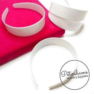 10 White Plastic Headband / Aliceband Cores Blanks (For you to cover)