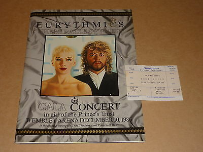 "Eurythmics ""The Miracle Of Trust"" 1986 Prince's Trust Gala Concert Programme"