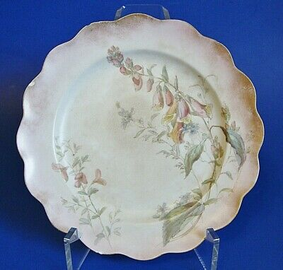 Antique Doulton Burslem Hand painted Plate - Numbered