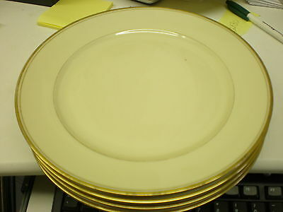4 KMP Royal Ivory Marlborough Luncheon Plates