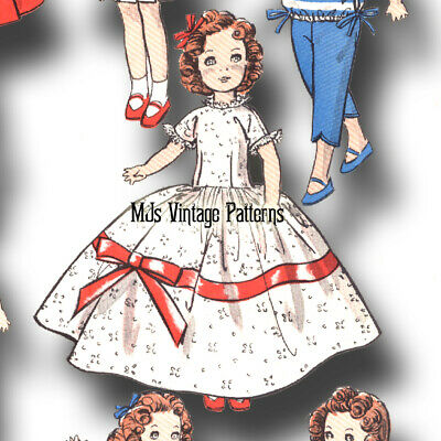 "8"" Betsy McCall, Shirley Temple Vintage Doll Pattern ~ HUGE WARDROBE, Dress, etc"