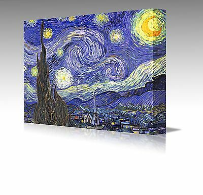 "Large 16x12"" Vincent Van Gogh Starry Night Over The Rhone Framed Canvas Picture"