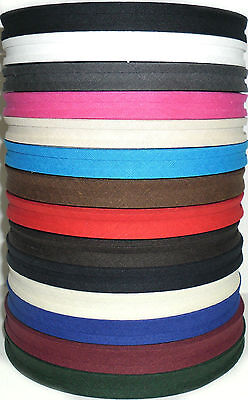 "Cotton Bias Binding Tape Folded, 1/2"" 33 Mtr Roll, Various Colours, Free P&p"