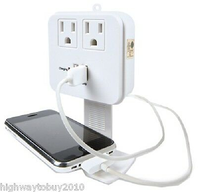 2 Kab CT-023 Master Electrician 2 Outlet White Surge Taps w 2 USB Charging Ports