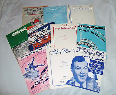 Large Lot Vintage Original Piano Sheet Music~Vocal~Movie~Musical Play~Broadway