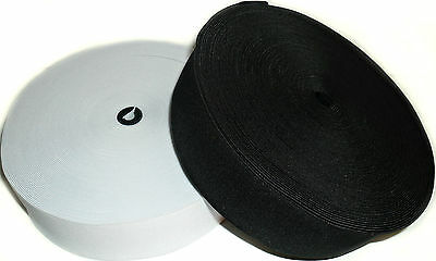 High Quality Woven Elastic, 2 Inch 50Mm Wide, Black Or White & Diff Lengths