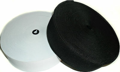 High Quality Woven Elastic, 3 Inch 75Mm Wide, Black Or White & Diff Lengths