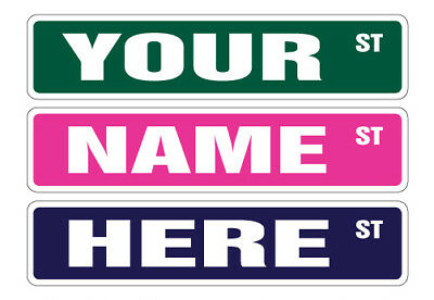 ANY NAME STREET SIGN Your Own Text personalized custom gift child boy girl signs