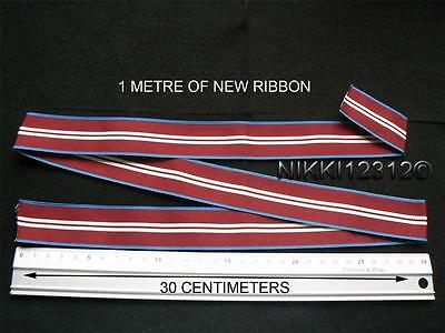 Full Size 1 Metre Of Queens Diamond Jubilee 2012 Medal Ribbon