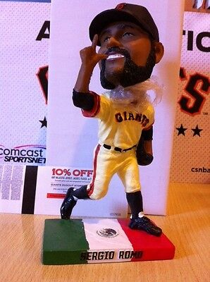 >>Rare SF GIANTS Sergio Romo bobblehead Limited Cinco De Mayo edition LA Dodgers