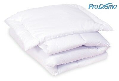 PILLOW + DUVET Anti-Allergic 100% Cotton Cot Cotbed Bedding 120x90 135x100 Quilt