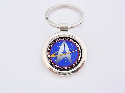 Star Trek Starfleet Command Badge Key Fob Keyring Keyfob Gift