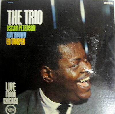 The Trio Oscar Peterson Ray Brown Ed Thigpen Live From Chicago LP Verve VG-8420