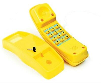 Cubby House Telephone YELLOW Play Equipment Playground Toy Phone Toddler