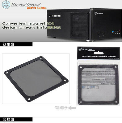 Silverstone SST-FF123 120mm Ultra Fine Magnetic Fan Dust Filter 120x120mm square