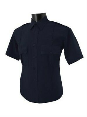 Uniform Security Guard Police Navy polyester shirt short sleeve Wrinkle free