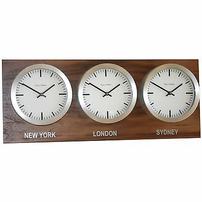 Roco Verre Custom Back Plated Time Zone Wall Clocks Range
