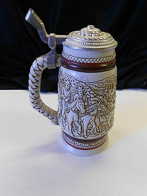 Vintage 1980 Avon Stein Made in Brazil #63923 Old West Cowboy Theme. Nice!