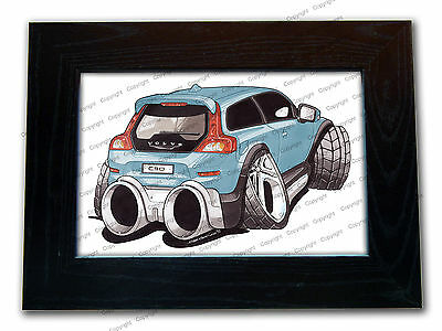 VOLVO C30 R DESIGN Sports Car Official Koolart Quality Glass Framed Picture