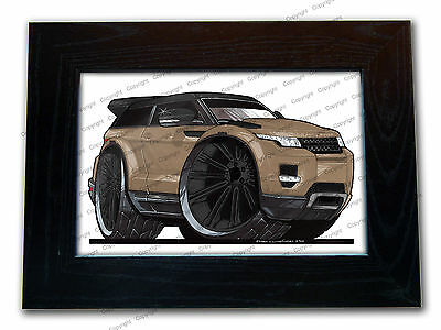 RANGE ROVER EVOQUE Mini SUV Official Koolart Quality Glass Framed Picture