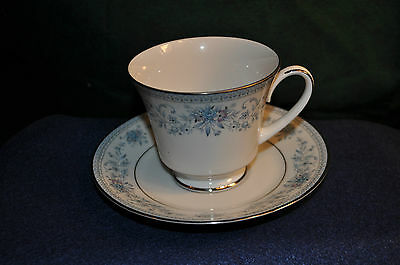Noritake, Blue Hill cup & saucer # 2482, Contemporary Fine China,