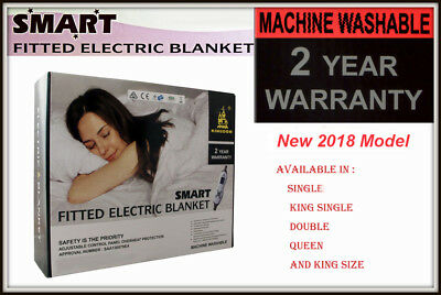 Premium 2018 Model Fitted Double Bed Smart Electric Blanket Machine Washable