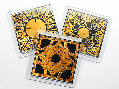 HELLRAISER PUZZLE BOX Classic Horror Movie Quality Drink Mug Coaster Set X3