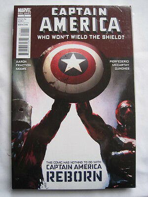 "Captain America ""who Won't Wield The Shield""  1. Aaron & Fraction. 2010. Marvel"