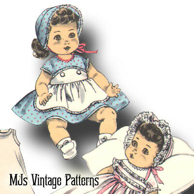 "Vtg Doll Pattern Christening Dress ~ 13"" 14"" Betsy Wetsy, Tiny Tears, Dy Dee"