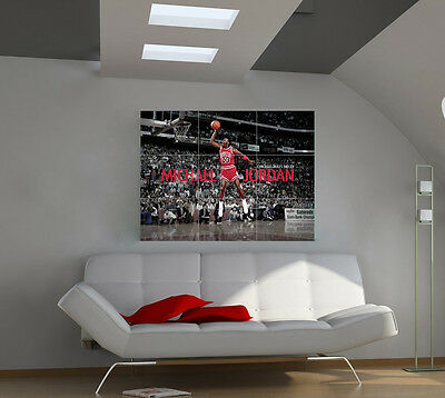 "Michael Jordan Huge Art Giant Poster Wall Print 39""x57"" px45"