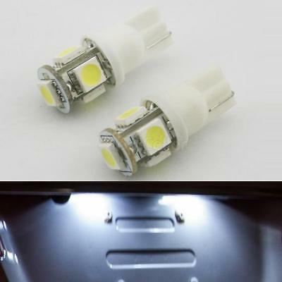 2x 168 194 T10 2825 White 5 SMD LED Bulbs License Plate Lights Lamps New