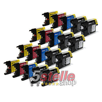Kit 20 Cartucce Compatibili Per Brother Mfc J5910Dw 6510Dw 6710Dw 6910Dw  Lc1240
