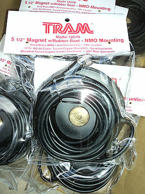 """TRAM 5 1/2"""" Magnetic Mag NMO Mount UHF Male PL-259 ANTENNA Mount W/ Rubber 1267R"""