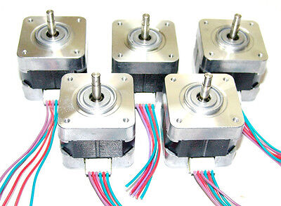 5 Nema 17 Minebea Stepper Motors Mill Robot RepRap Makerbot Prusa 3D Printer