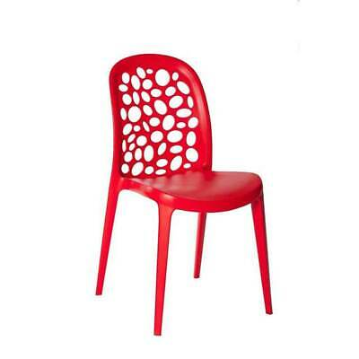 Outdoor CHAIR Stackable Restaurant Cafe Seat Dining Chairs Replica Grace Red
