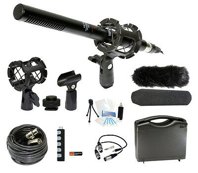 Microphone Broadcasting Accessories Kit for Sony Alpha DSLR-A560 SLT-A55 SLT-A35