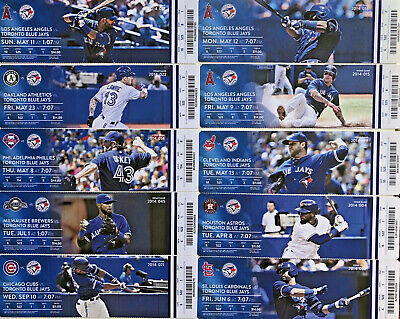 2010-2014 Toronto Blue Jays Season Ticket Stubs - Mint Condition! Free (US) Ship