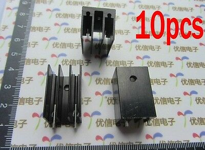 10PCS Transistors Aluminum Heat Sink TO-220 16*16*25MM